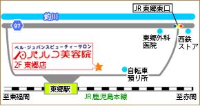 東郷店地図